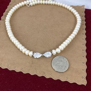 Gem Emporium Jewelry - Vintage White 18 Inch 7.5MM Baroque Pearl Necklace